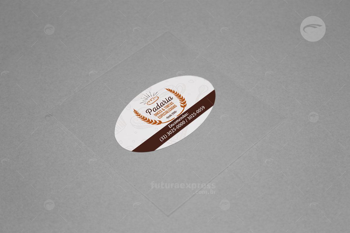Adesivo Oval Cod: 243