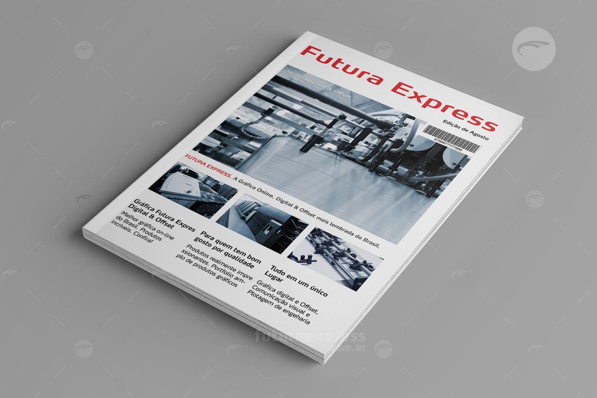 Revista Vertical com Lombada