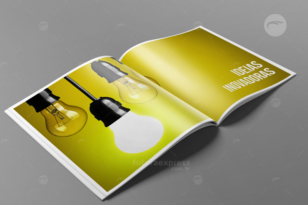 Revista Quadrada com Lombada