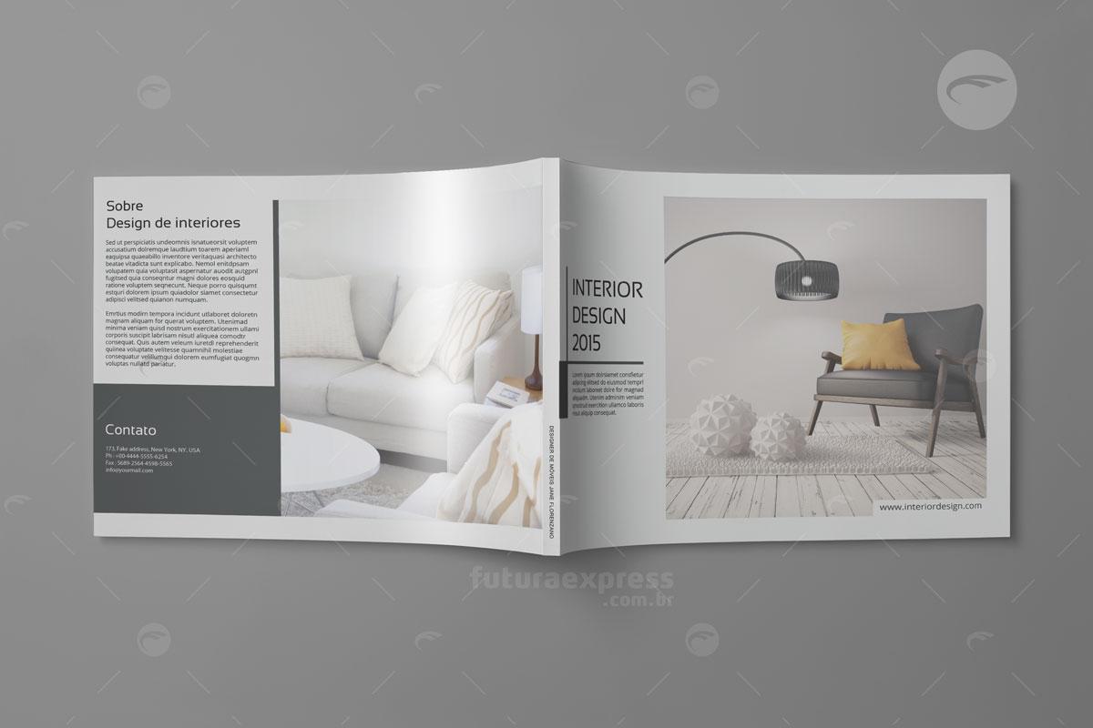 Revista Horizontal com Lombada
