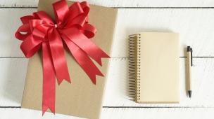 Brinde de Caderno para clientes