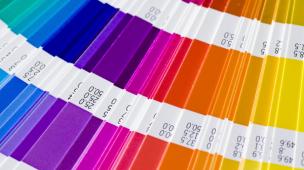 Palheta de cores pantone