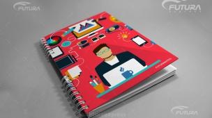 Caderno Futura Personalizado