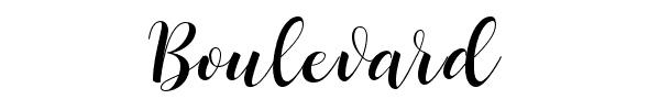 BOULEVARD fonte de letra