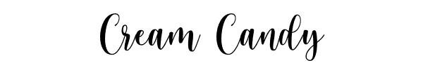 fonte de letra CREAM-CANDY