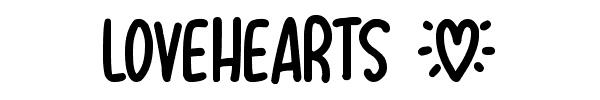 LOVEHEARTS fonte de letra diferente