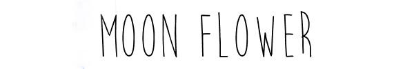 MOON-FLOWER fonte de letra
