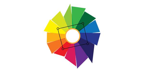 combinação de cores quadrado